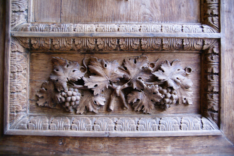 A small portion of the carving on one of the doors to the Duomo.  Florence, Italy