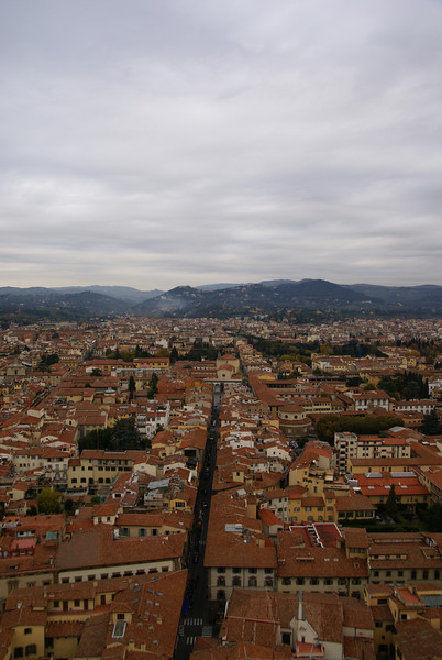 Looking northeast from on top of the Duomo.  Florence, Italy.
