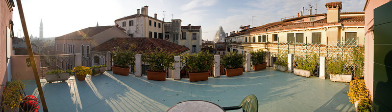The view from our patio in Venice