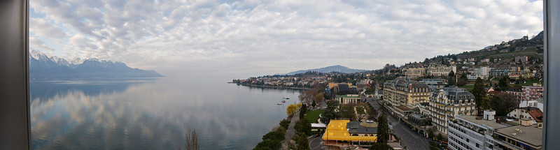 View from our hotel in Montreux, Switzerland (Best Western)