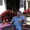 Alan at our hotel in Lido, Albergo Quatro Fontane