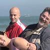 Zuzana Radek and Alan on the breakwater in Lido, an island off the coast from Venice.