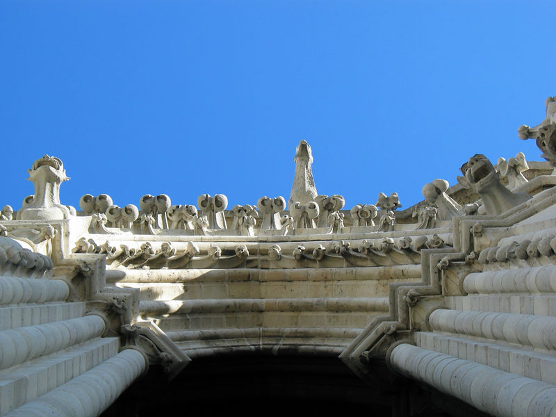 <b>Looking straight up while on the towers of Notre Dame.</b>