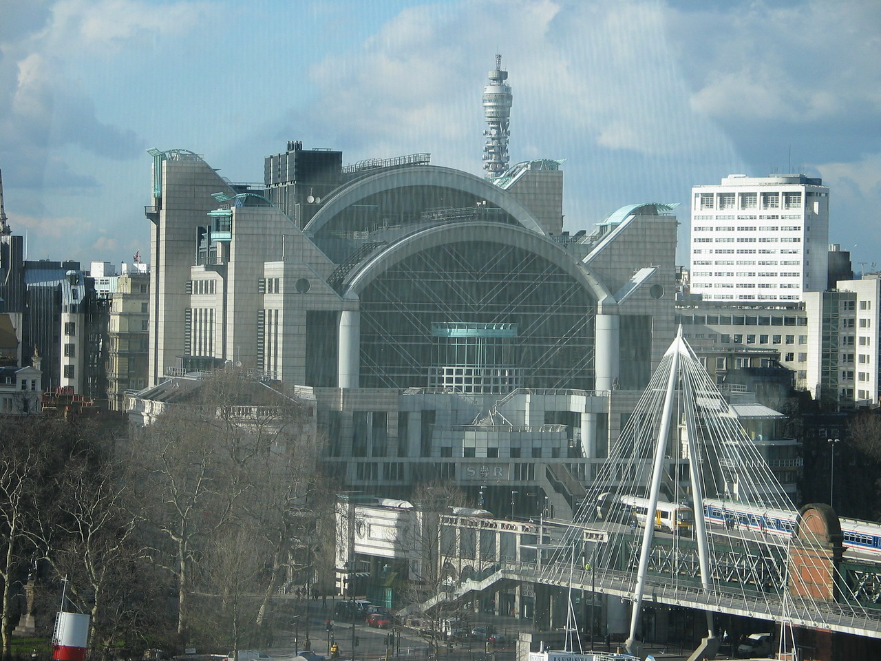 <b>Charing Cross Rail Station - taken from inside the London Eye.</b>