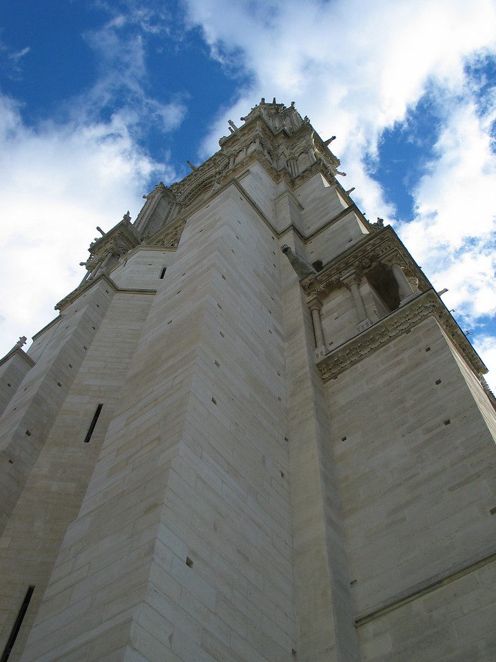 <b>One of the bell towers of Notre Dame.</b>