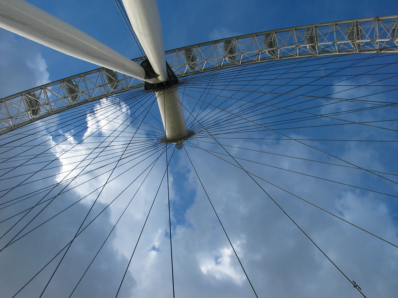 <b>Standing underneath the London Eye</b>