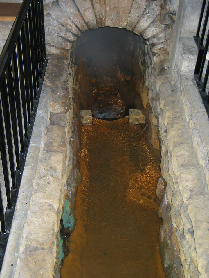 <b>One of the drains in the Roman Baths that would... drain... the water from the main baths.</b>