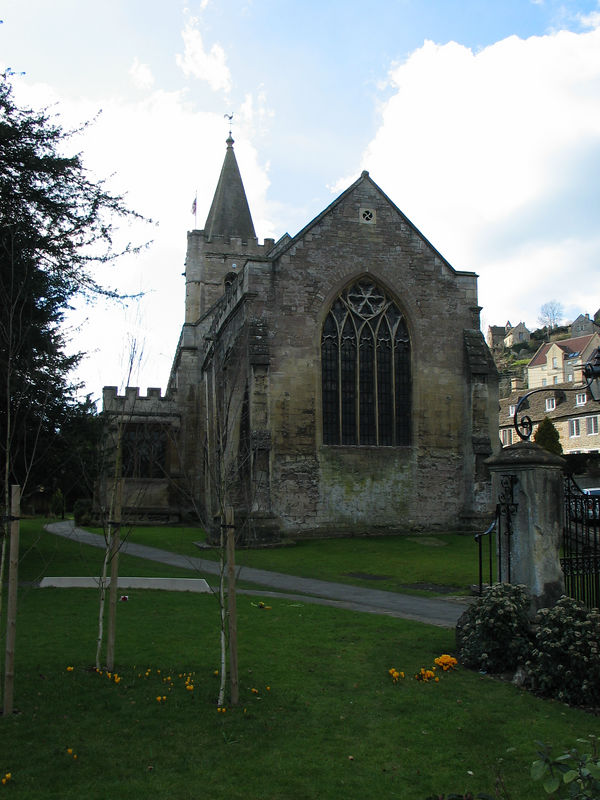 <b>Holy Trinity Church in the town of Bradford on Avon, built in the 15th century.</b>