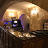 The bar and breakfast area in the basement of our hotel, Palazzo Consiglia in Valletta,