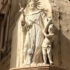 Corner statue in Valletta.