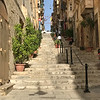 Walking the streets of Valletta.