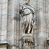 Sculptures adorning the Milan Cathedral number in the thousands.  Many like this are quite serene and peaceful.