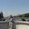 Alan on bridge over Seine.