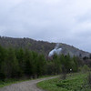 Bieszczady Mountains with smoke from a charcoal furnace.
