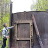 Charcoal furnace in Bieszczady Mountains.  We thought they were probably really meth labs.