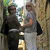 Kim and Mel on the streets of Sommieres.