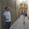 Steve and Mel on the streets of Sommieres.