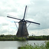 One of the wood and thatch windmills on the est side of the main canal.