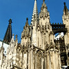 Spires in the southeast corner of the Cologne cathedral.