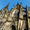 South façade of the Cologne cathedral.