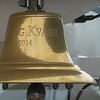 The bell of our ship, The Viking Kvasir.  The ship is named after the Viking god Kvasir, a god of great wisdom and wide travels.