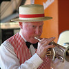 Trumpet player for Dixieland Band present for EANS at convention center.