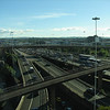Motorways from our hotel window.