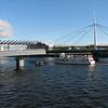 Swing bridge on River Clyde, Glasgow.