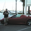 Alan with our rental car in Puerto Banus.