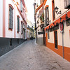 Back alleys of Seville near cathedral.