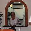 Mel pouring dinner in Marabella