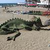 Sand Castle dragon in Puerto Banus