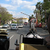 Riding a horse-drawn carriage through Seville
