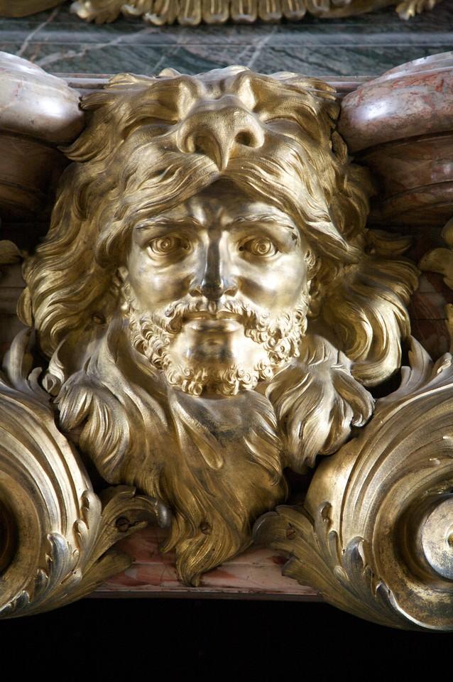 Hercules on the mantel piece.