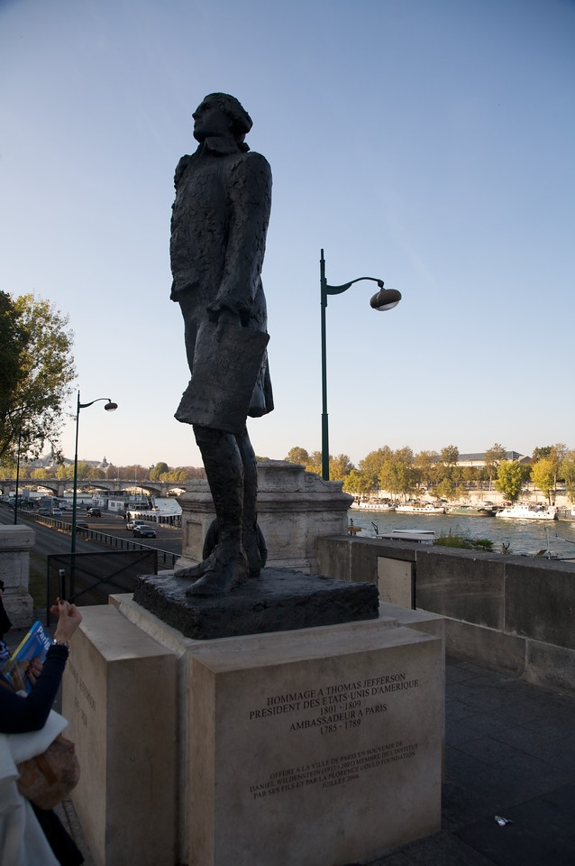 Hommage a Thomas Jefferson in Paris