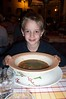 GIANT bowl of soup.