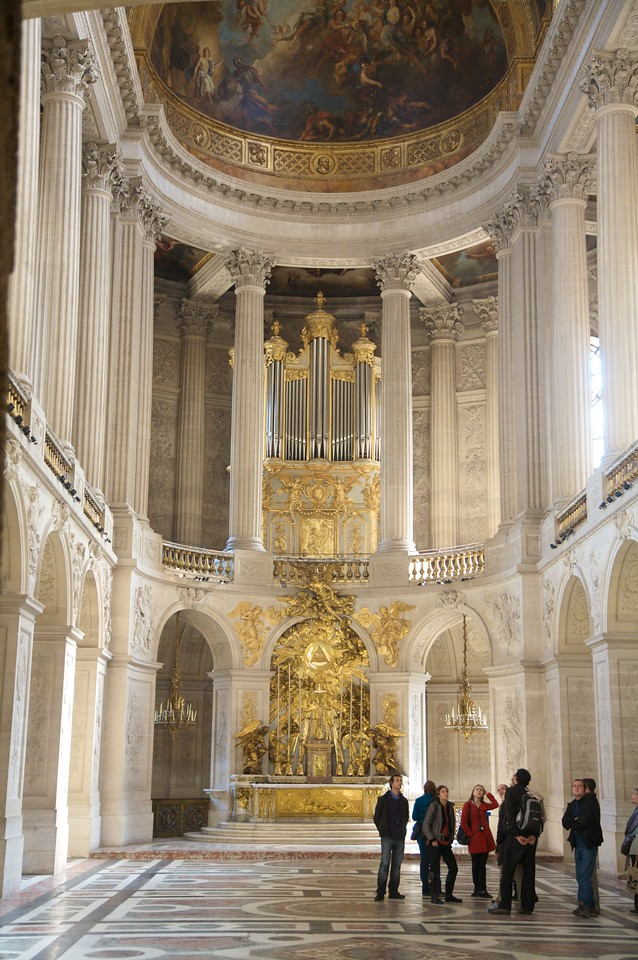 Just a little chapel.  The only room decorated without an image of Louis or a Roman god.