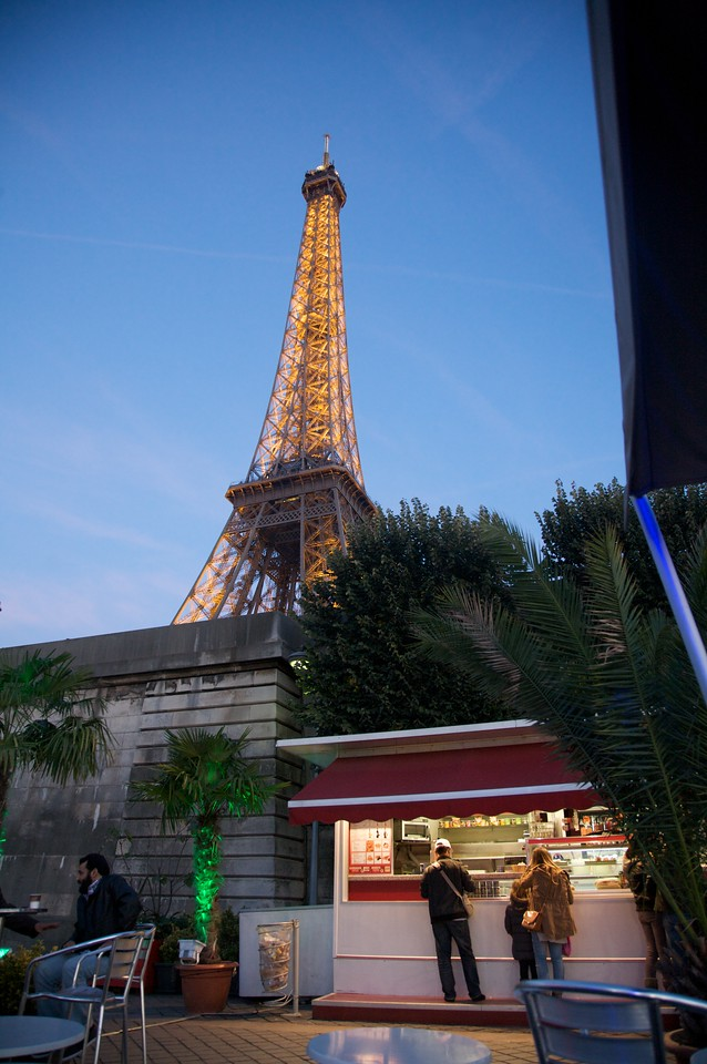 Dinner under the Eiffel Tower