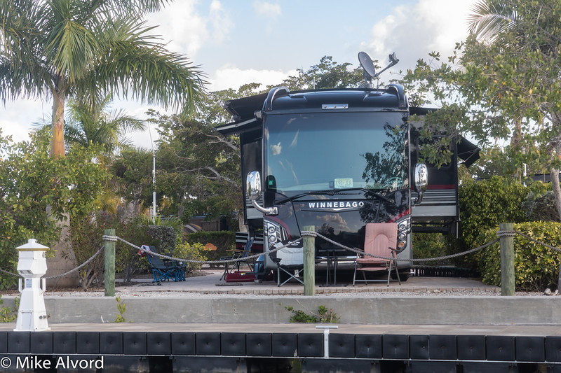 Another look at the RV from the river.