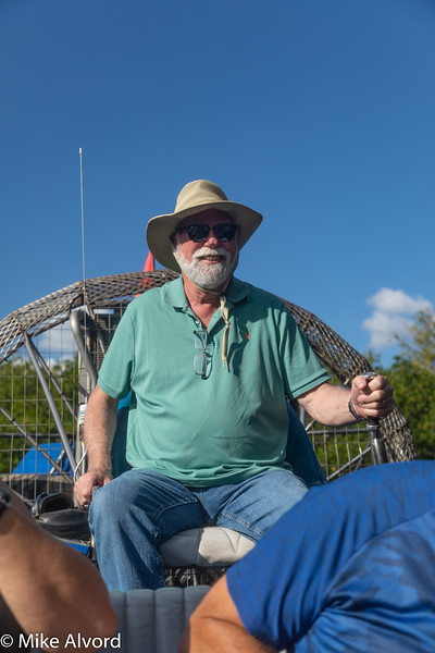 Jerry running the Airboat, NOT.