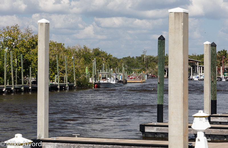 A look down the river to the Airboat docks.