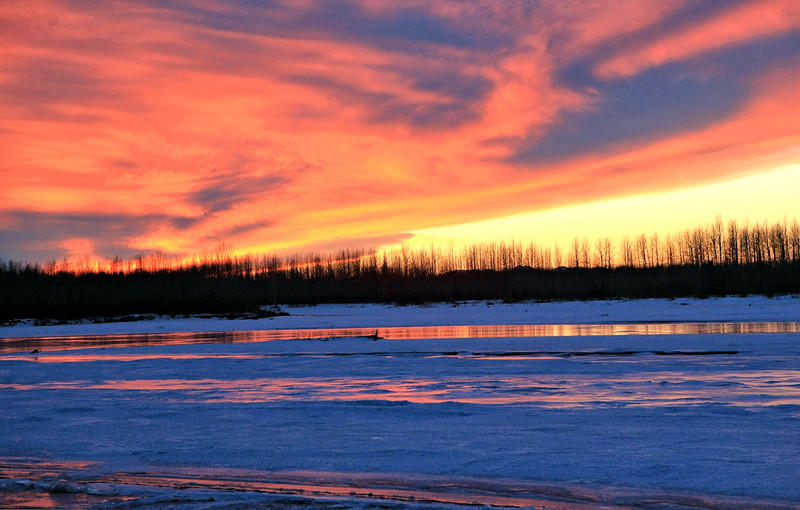 Sunset over the Susitna