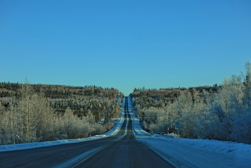 On the road to Chena Hot Springs