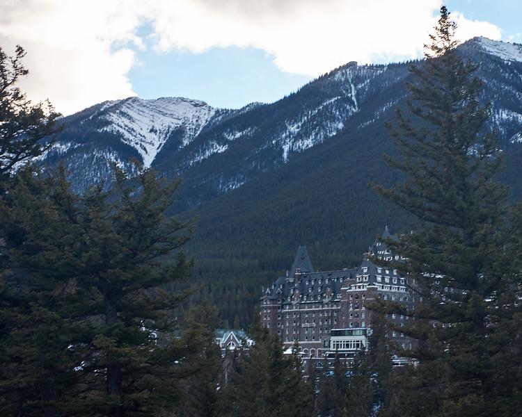 Fairmont Banff Springs from Surprise Corner