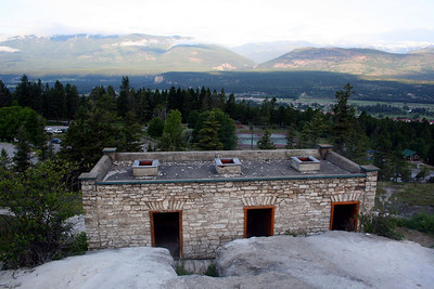 From here you can see the vents on the top of the roof as well as the view over the valley.