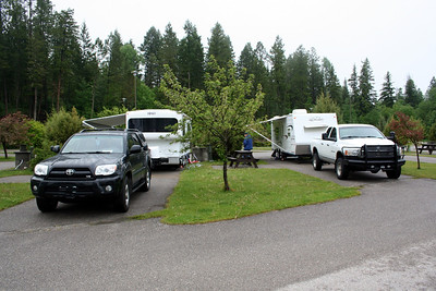 All set up at the RV Park.