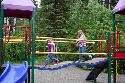Anissa & Makenna love to play at their park.
