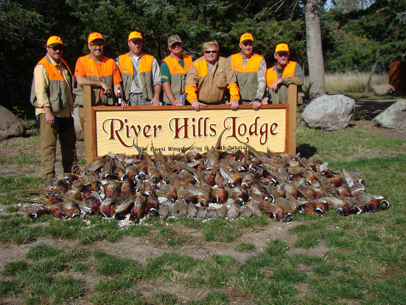 This is the other group of guys at the lodge with us. This is thier birds along with ours.