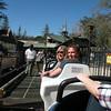 Chris and Carrie headed up the Matterhorn in Disneyland