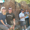 The crew, Carrie, Chris, Alan, Jesse and Alex, waiting for lunch at Disneyland